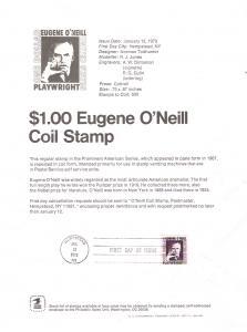 U.S. Scott SP297 Souvenir Page FDC $1 Coil 2013 CV $12.00