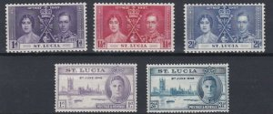 ST LUCIA     1937 - 46    CORONATION   &  VICTORY  SETS  MH