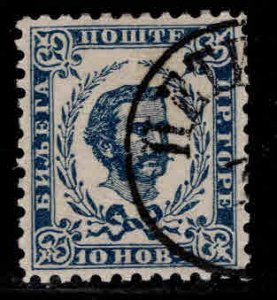 Montenegro Scott 19 Used  CTO Prince Nicholas 1893 late printing perf 10.5