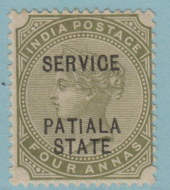 INDIA PATIALA STATE O12 MINT HINGED OG * NO FAULTS EXTRA FINE !