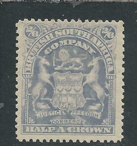 RHODESIA 1898-1908 2s6d BLUISH GREY MM SG 85 CAT £75