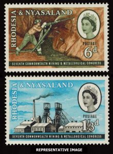 Rhodesia and Nyasaland Scott 178-179 Mint never hinged.