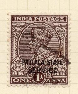 Indian States Patiala 1935-39 Early Issue Fine Used 1a. Optd 075649