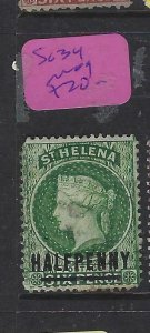 ST HELENA  (P0705BB)  QV  1/2D   SG 34    MOG