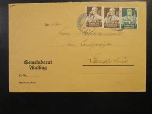 Germany 1930s Cover w/ Semi Postals - Z6680