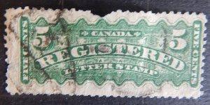 Canada, 1875-1888, Registration Stamps, CV $193, (1988-T)
