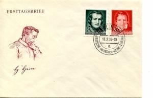 GDR 1956 Heinrich Heine  unaddressed FDC  VF