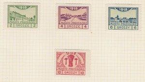 POLAND 1918 PRZEDBORZ local post set mint - hinged..........................A616