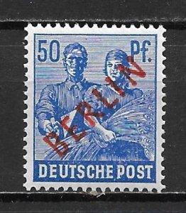 Germany Berlin 9N30 50pf Worker single Unused LH
