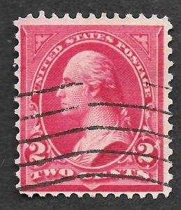 1894, US, Scott # 249, Washington Bureau Issue, 2 cent, Carmine Lake, Type I, PH