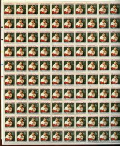 US SCOTT# 2367 CHRISTMAS FULL SHEET OF 100 STAMPS MNH AS SHOWN