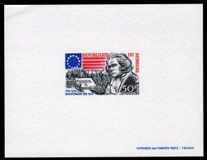 Senegal 1976 Sc#593 American Bicentennial Jefferson Deluxe Souvenir Sheet MNH