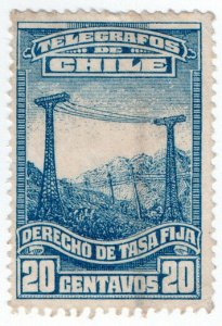 (I.B) Chile Telegraphs : Revenue Tax 20c