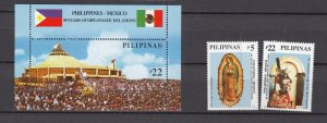 J27805  2003 philippines set + s/s mnh, #2858-60 designs
