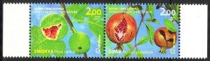 Bosnia / Croatian Post 2011 Flora Fruits pair MNH