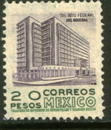 MEXICO 867 $20Pesos 1950 Definitive 1st Printing wmk 279 MNH