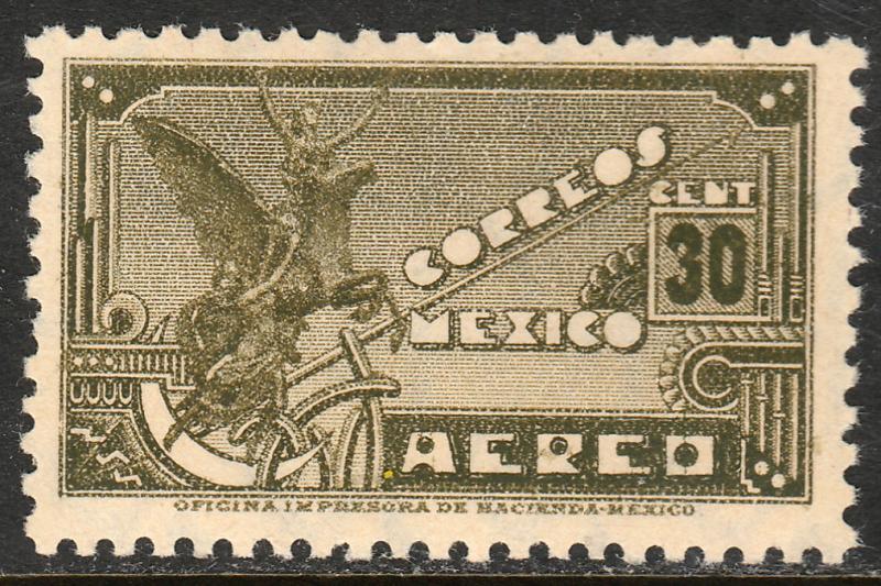 MEXICO C69, 30¢ PEGASUS SYMBOL OF FLIGHT. MINT, NH. VF.