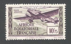 French Equatorial Africa 1937,Air Post 10.75fr,Sc C8,VF MNH**OG (K-8)