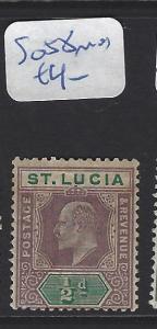 ST LUCIA   (PP2806B)  KE 1D  SG 58  MOG