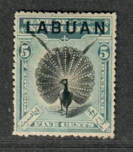 Labuan Sc#77 M/H/VF, Cv. $27.50
