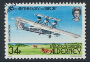 Alderney  SG A22  SC#  22  Aircraft Airport Used First Day Cancel - as per scan