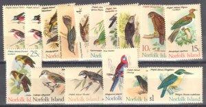Norfolk Island 1970-71 Scott #126-140 Mint Never Hinged -- BIRD SET