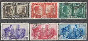 COLLECTION LOT OF #1745 ITALY # 413-8 1941 CV+ $ 23