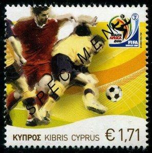 HERRICKSTAMP CYPRUS (BR) Sc.# 1128 2010 FIFA Soccer Champ. Specimen Overprint