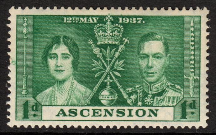 Ascension KGVI 1937 Coronation Set 3 Mint