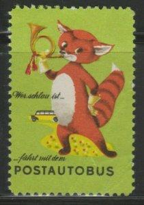 Postautobus Cinderella Poster Stamp Reklamemarken A7P4F817