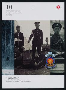 Canada 2635a Booklet MNH Military, Princess of Wales' Own Regiment