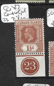 LEEWARD ISLANDS  (PP0105B) KGV  3D  SG 69  PL 16  MOG