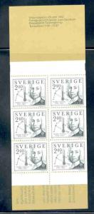 Sweden Sc 1402a 1982 Celsius stamp bklt pane mint NH