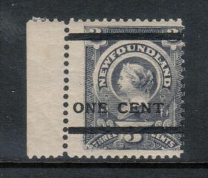 Newfoundland #76i Mint Fine Never Hinged **With Certificate**