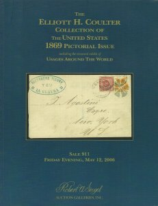 E. H. Coulter Collection of U.S. 1869 Issue, Robert A. Siegel, Sale 911 Catalog