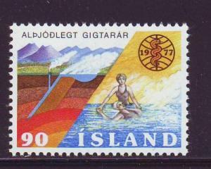 Iceland Sc 502 1977 Rheumatism Year stamp mint NH