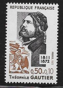 FRANCE, B459, MNH, THEOPHILE GAUTIER
