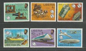 Liberia Scott catalog # 742-747 Unused Hinged