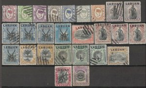 LLECTION LOT OF #1795 LABUAN 26 STAMPS 1894+ CV+$22 CLEARANCE