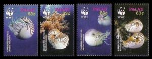 Palau WWF Chambered Nautilus 4v SG#2153-2156 MI#2530-2533 SC#853 a-d