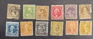 US 1932 Washington Bicentennial set of 12 # 704-15