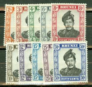 Brunei 84-93 mint CV $18.20
