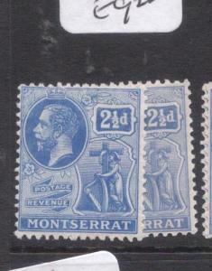 Montserrat SG 71, 71a MOG (4dly)