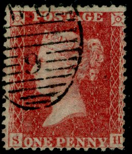SG40, 1d rose-red PLATE 60, LC14, FINE USED. Cat £30. SH