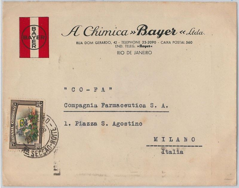 56391 -  BRAZIL -  POSTAL HISTORY: COVER to ITALY 1938 - COFFEE COFE