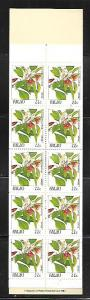 PALAU, 132A, MNH,  BOOKLET PANE  FLOWERS
