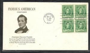 US #879-3 Foster Grimsland cachet addressed