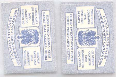 Canada - 5c Wilding Type 1 Booklets X 10 #BK49b Stitched