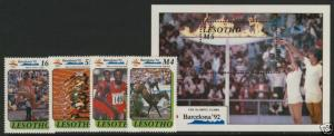 Lesotho 791-5 MNH Olympic Games, Barcelona '92, Horse