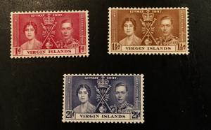 British Virgin Islands Scott 72-75 KGVI Coronation-Mint NH
